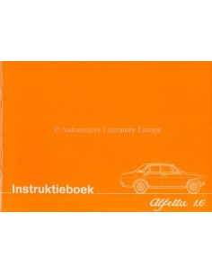 1975 ALFA ROMEO ALFETTA 1.6 OWNERS MANUAL DUTCH