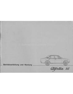 1975 ALFA ROMEO ALFETTA 1.6 OWNERS MANUAL GERMAN