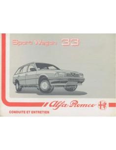 1988 ALFA ROMEO 33 SPORT WAGON OWNERS MANUAL FRENCH