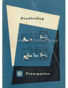 1958 VOLKSWAGEN T1 TRANSPORTER OWNERS MANUAL DUTCH