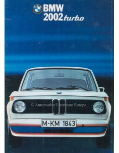 1974 BMW 2002 TURBO BROCHURE NEDERLANDS