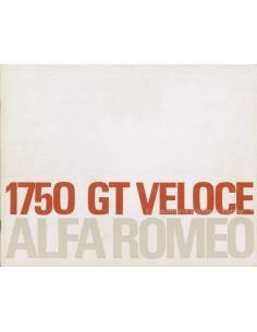 1970 ALFA ROMEO 1750 GT VELOCE BROCHURE NEDERLANDS