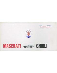 1969 MASERATI GHIBLI BROCHURE 'RARE'