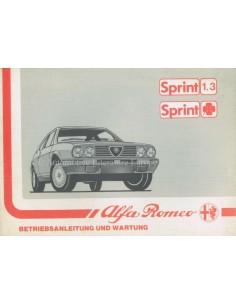1988 ALFA ROMEO SPRINT BETRIEBSANLEITUNG DEUTSCH