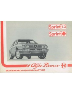 1988 ALFA ROMEO SPRINT OWNERS MANUAL GERMAN
