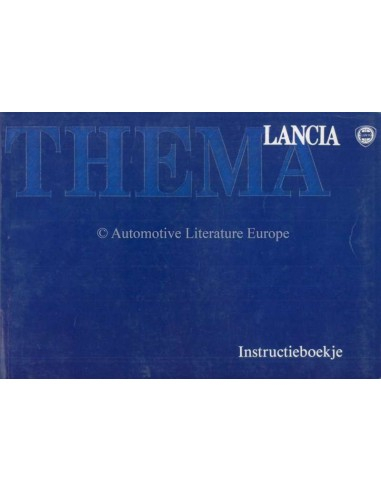 1989 LANCIA THEMA OWNERS MANUAL DUTCH