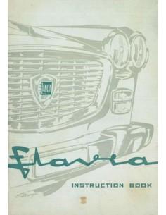 1961 LANCIA FLAVIA BERLINA BETRIEBSANLEITUNG ENGLISCH