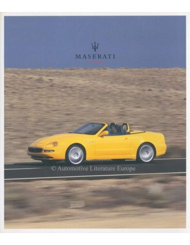 2002 MASERATI SPYDER BROCHURE ENGLISH