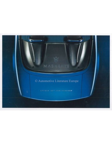2004 MASERATI SPYDER 90TH ANNIVERSARY BROCHURE ITALIAN ENGLISH