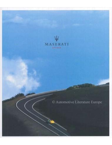 2002 MASERATI SPYDER PROSPEKT DEUTSCH
