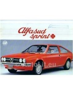 1977 ALFA ROMEO SPRINT Q BROCHURE DUTCH