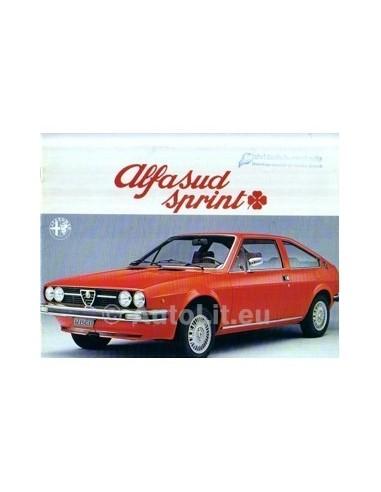1977 ALFA ROMEO SPRINT Q BROCHURE NEDERLANDS