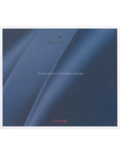 2004 MASERATI COLOURS BROCHURE ITALIAN ENGLISH