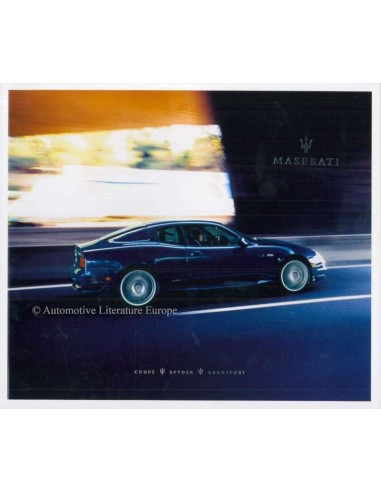 2004 MASERATI COUPE SPYDER GRANSPORT BROCHURE FRENCH