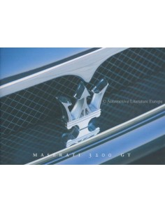1998 MASERATI 3200 GT PRESS BROCHURE ITALIAN ENGLISH