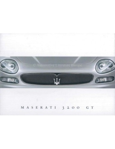 2000 MASERATI 3200GT BROCHURE ENGELS