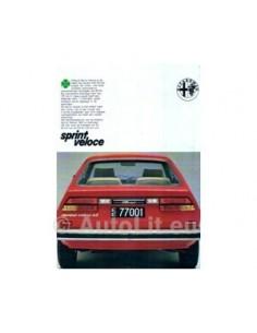 1979 Alfa Romeo Sprint Veloce Leaflet Dutch