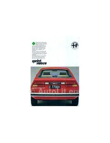 1979 Alfa Romeo Sprint Veloce Leaflet Nederlands