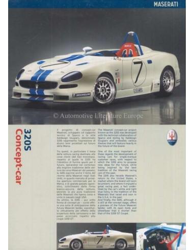 2001 MASERATI 320S CONCEPT-CAR PROSPEKT ITALIENISCH ENGLISCH
