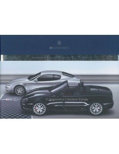2006 MASERATI GRANSPORT SPYDER COUPE BROCHURE GERMAN