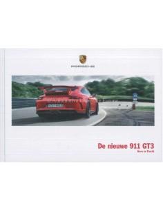 2018 PORSCHE 911 GT3 HARDCOVER PROSPEKT NIEDERLÄNDISCH