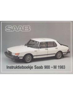 1983 SAAB 900 BETRIEBSANLEITUNG NIEDERLÄNDISCH