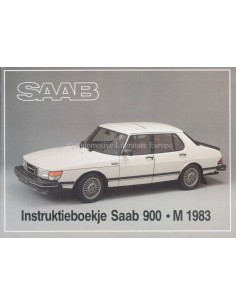 1983 SAAB 900 OWNERS MANUAL DUTCH