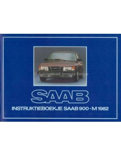 1982 SAAB 900 OWNERS MANUAL DUTCH