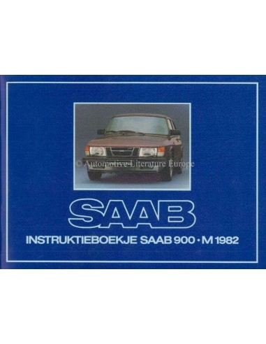 1982 SAAB 900 OWNERS MANUAL DUTCH