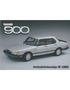 1985 SAAB 900 OWNERS MANUAL DUTCH