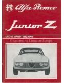 1970 ALFA ROMEO JUNIOR ZAGATO INSTRUCTIEBOEKJE ITALIAANS