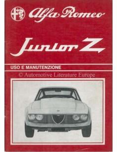 1971 ALFA ROMEO JUNIOR ZAGATO INSTRUCTIEBOEKJE ITALIAANS