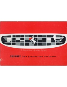 1959 FERRARI 250 GRANTURISMO BERLINETTA BROCHURE ENGLISH