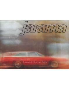 1971 LAMBORGHINI JARAMA 400 GT 2+2 PROSPEKT