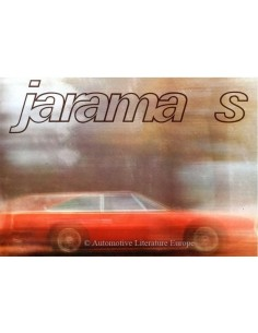 1973 LAMBORGHINI JARAMA S BROCHURE