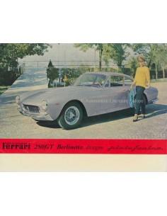 1963 FERRARI 250 GT BERLINETTA LUSSO BROCHURE FRENCH
