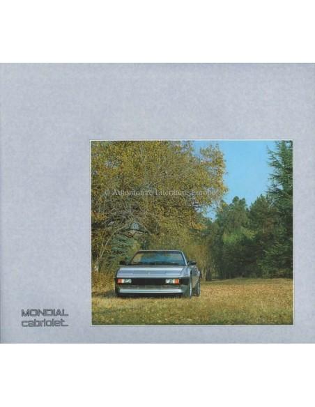 1984 FERRARI MONDIAL CABRIOLET BROCHURE 313/84