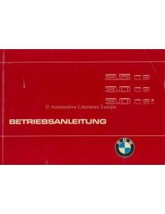 1975 BMW 2.5 CS, 3.0 CS, 3.0 CSI OWNERS MANUAL HANDBOOK GERMAN
