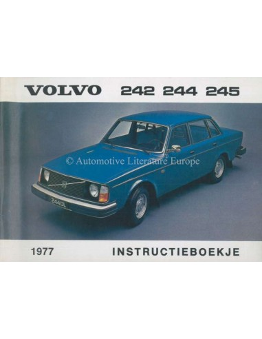 1977 VOLVO 242 244 245 OWNERS MANUAL DUTCH