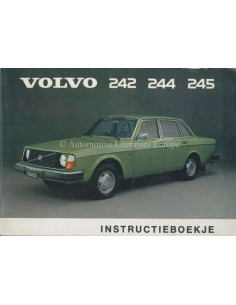 1975 VOLVO 242 244 245 INSTRUCTIEBOEKJE NEDERLANDS