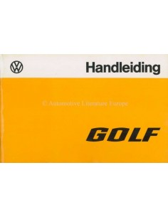 1978 VOLKSWAGEN GOLF OWNERS MANUAL DUTCH