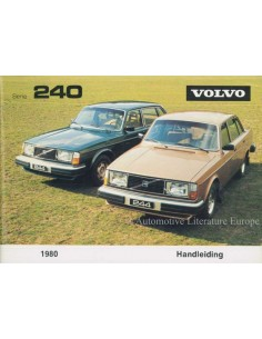 1980 VOLVO 240 OWNERS MANUAL DUTCH