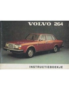 1975 VOLVO 264 OWNERS MANUAL DUTCH