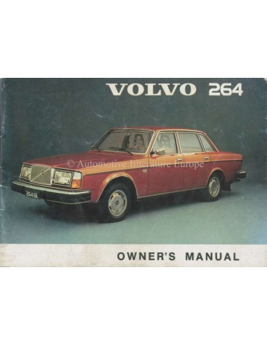 1975 VOLVO 264 INSTRUCTIEBOEKJE ENGELS
