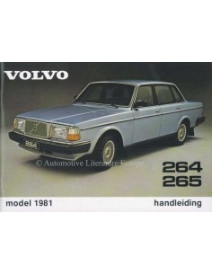 1981 VOLVO 264 265 OWNERS MANUAL DUTCH