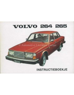 1976 VOLVO 264 265 OWNERS MANUAL DUTCH
