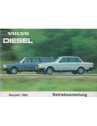 1983 VOLVO 240 DIESEL OWNERS MANUAL GERMAN