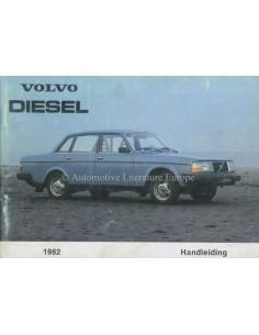 1982 VOLVO 240 DIESEL OWNERS MANUAL DUTCH