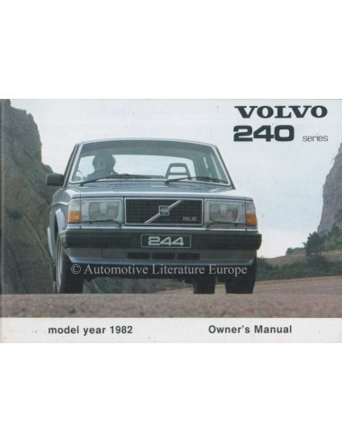 1982 VOLVO 240 OWNERS MANUAL ENGLISH