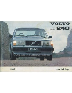 1982 VOLVO 240 OWNERS MANUAL DUTCH